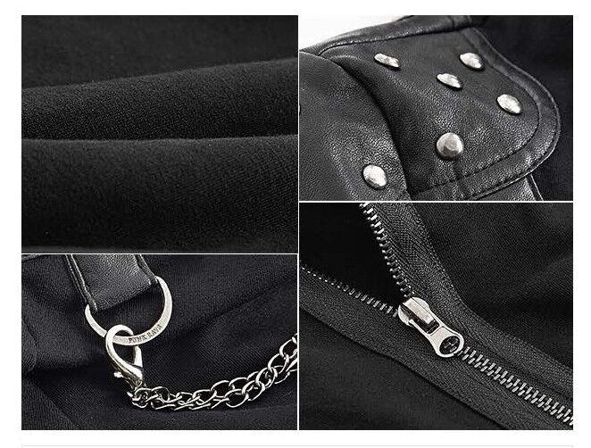 Top haut gothique punk lolita glam glam glam rock clouté chaîne collier bondage PunkRave e0cbe1
