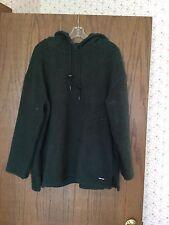 Women's DKNY Active Forest Green Fleece Hoodie Size L