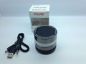 LOT OF 10 NEW ROUND BLUETOOTH SPEAKER PORTABLE STEREO WIRELESS UNIVERSAL WHITE