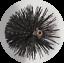 thumbnail 1 - CFC038 225mm/9 inch dia Polypropylene Pull Thru Flue Brush 200mm long