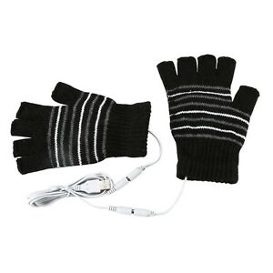 USB-Heated-Warm-Gloves-Half-Finger-Winter-Heating-Knitting-Mittens-Black-Tool