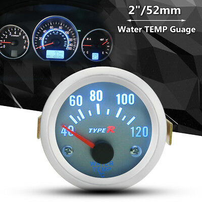 2/'/' 52mm Motorcycle Water Temp Temperature Gauge LCD Meter Auto Car Truck  DC12v