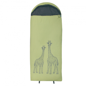 10T saco de dormir para niños GIRAFFE 180x75 cm 300 g/m² Jirafa verde/gris