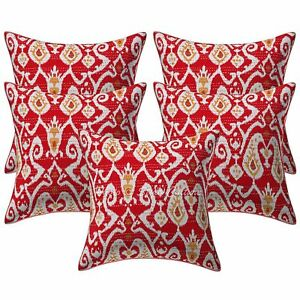 Cotton Cushion Covers White Black Tree of life Embroidery 40cm pair