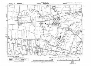 OLD ORDNANCE SURVEY MAP KIDDERMINSTER 1921 PROUD CROSS CHADDESLEY ROAD LARKHILL
