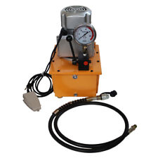 Single Acting Electric Hydraulic Pump Manual Valve 10152 Psi Foot Switch
