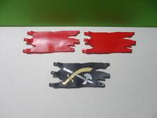 PLAYMOBIL – 3 drapeaux « style déchiré »/ Flag / 3269 4156