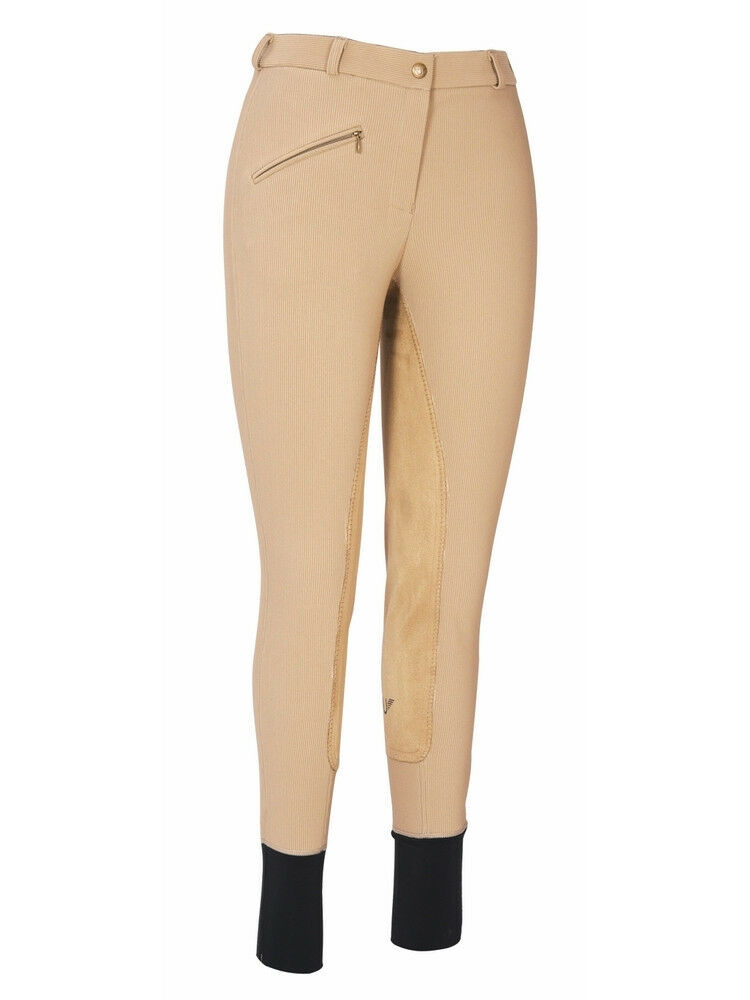 Tuffrider Women's Ribb Lowrise Full Seat Riding Breeches with UltraGripp