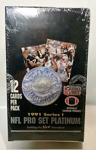 1991-Pro-Set-PLATINUM-series-1-Football-card-box-Factory-Sealed-contains-36pks