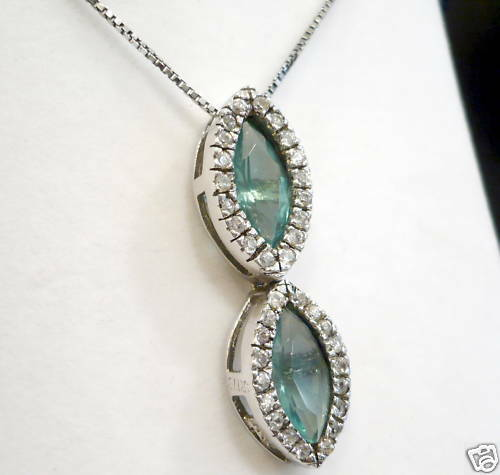 925 silver Halskette mit Steinen Mehrfarbig