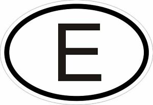 E-SPAIN-COUNTRY-CODE-OVAL-STICKER-bumper-decal-car