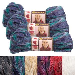 3pk-Lion-Brand-Imagine-Acrylic-Blend-Yarn-Super-Bulky-6-Knitting-Crochet-Soft