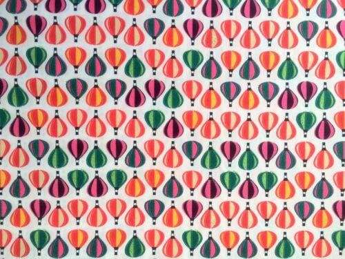 "Yard Curtain Craft Upto 30/% OFF HOT AIR BALLOON Fabric 100/% Cotton 56/"" Wide FQ"