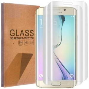 Samsung-Galaxy-S6-Edge-Pack-de-2-Films-en-verre-trempe-incurve-Transparent