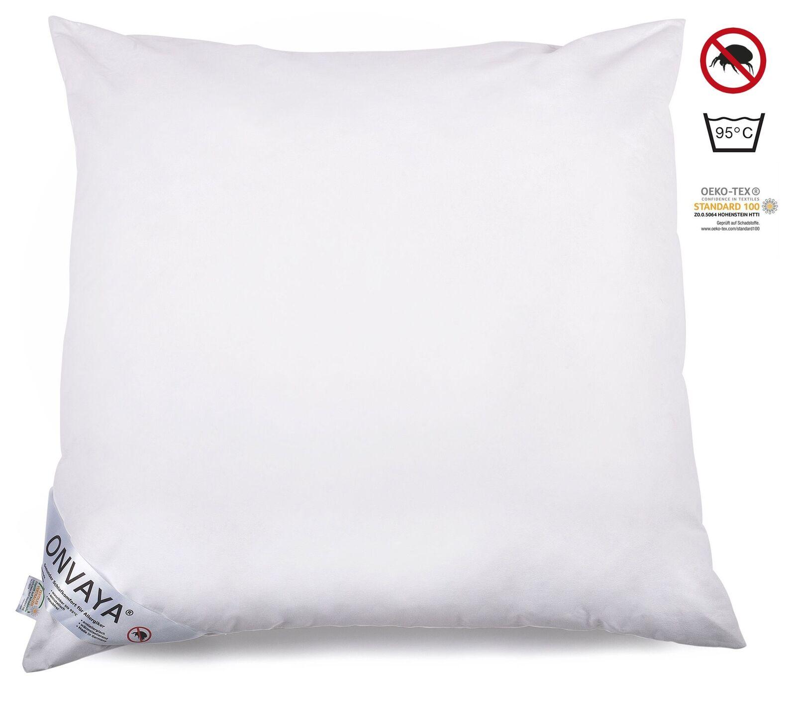 Evolon® Allergiker Kopfkissen 80x80cm Schlafkissen Kissen Milbenschutz 95°C NEU