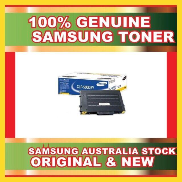 GENUINE ORIGINAL SAMSUNG YELLOW TONER CARTRIDGE CLP-500D5Y FOR CLP500 NEW SEALED