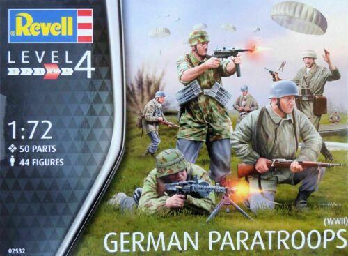 OVP, 1:72 Bausatz Figuren Deutsche Fallschirmjäger WWII Revell 02532 Neu