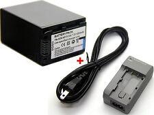 Battery + Charger for Sony HXR-NX70E NEX-VG10E NEX-VG20E NEX-VG30E NEX-VG900E