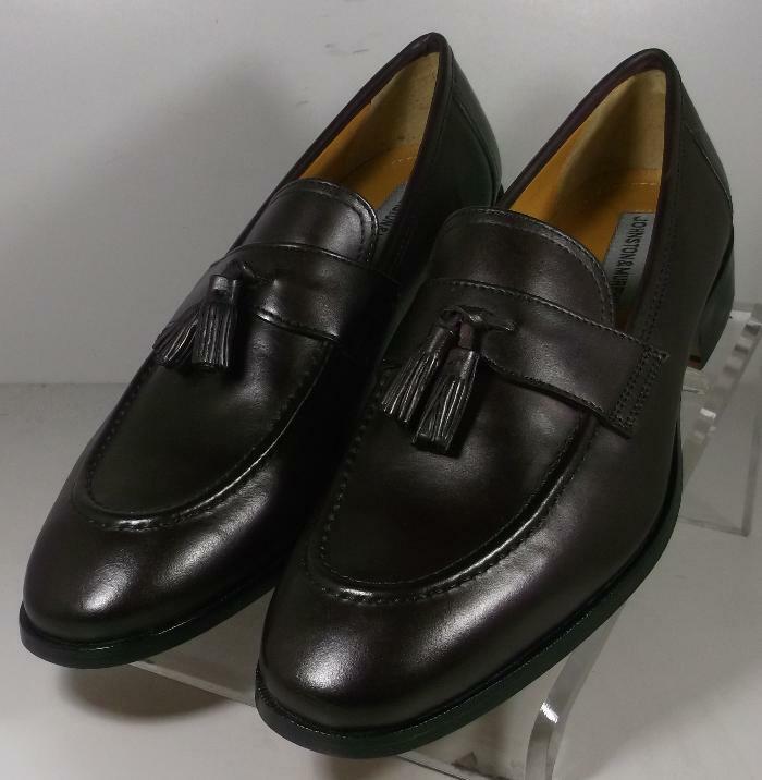 151083 SP50 Men's Shoes Size 9 M Dark Burgundy Leather Slip On Johnston & Murphy