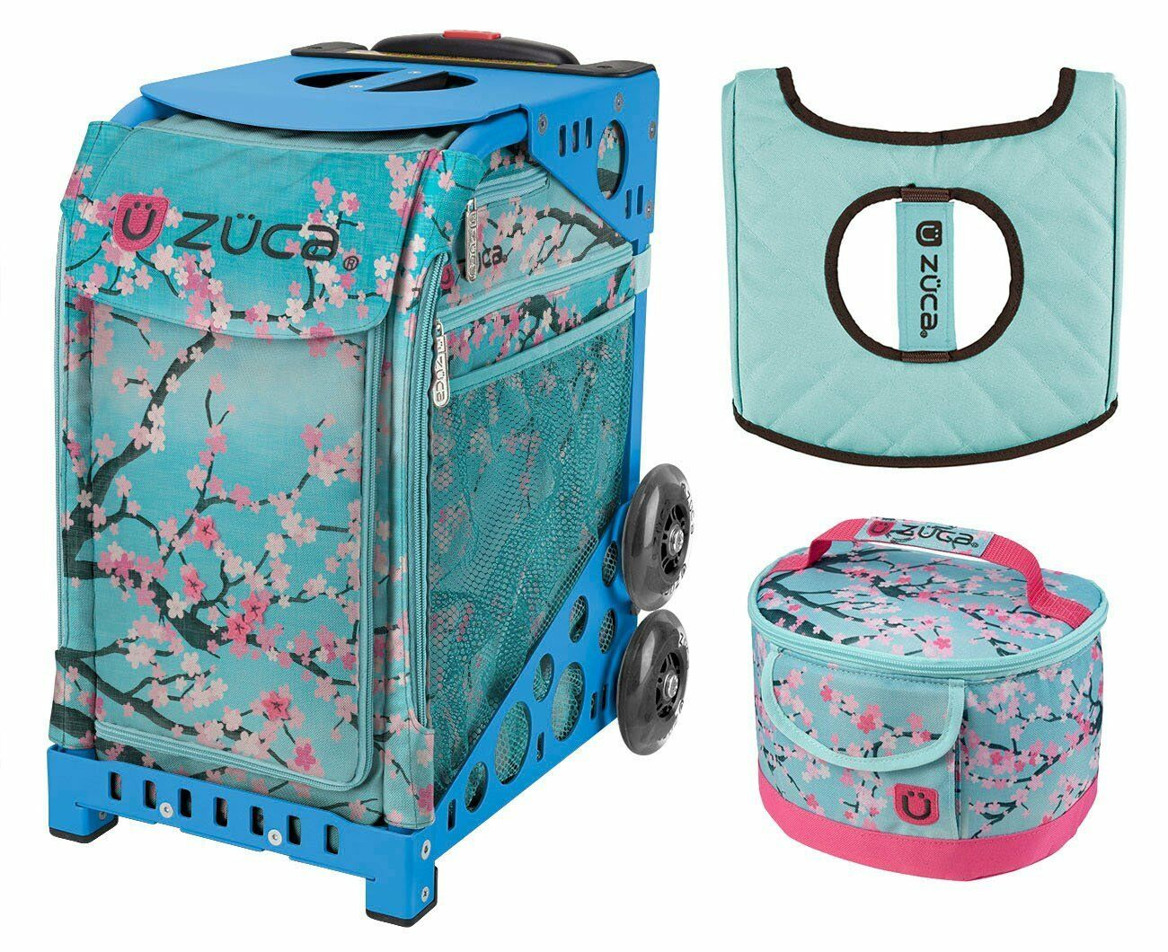 Zuca Sport Bag - Hanami with GIFT Lunchbox and Seat Cover (bluee Frame)