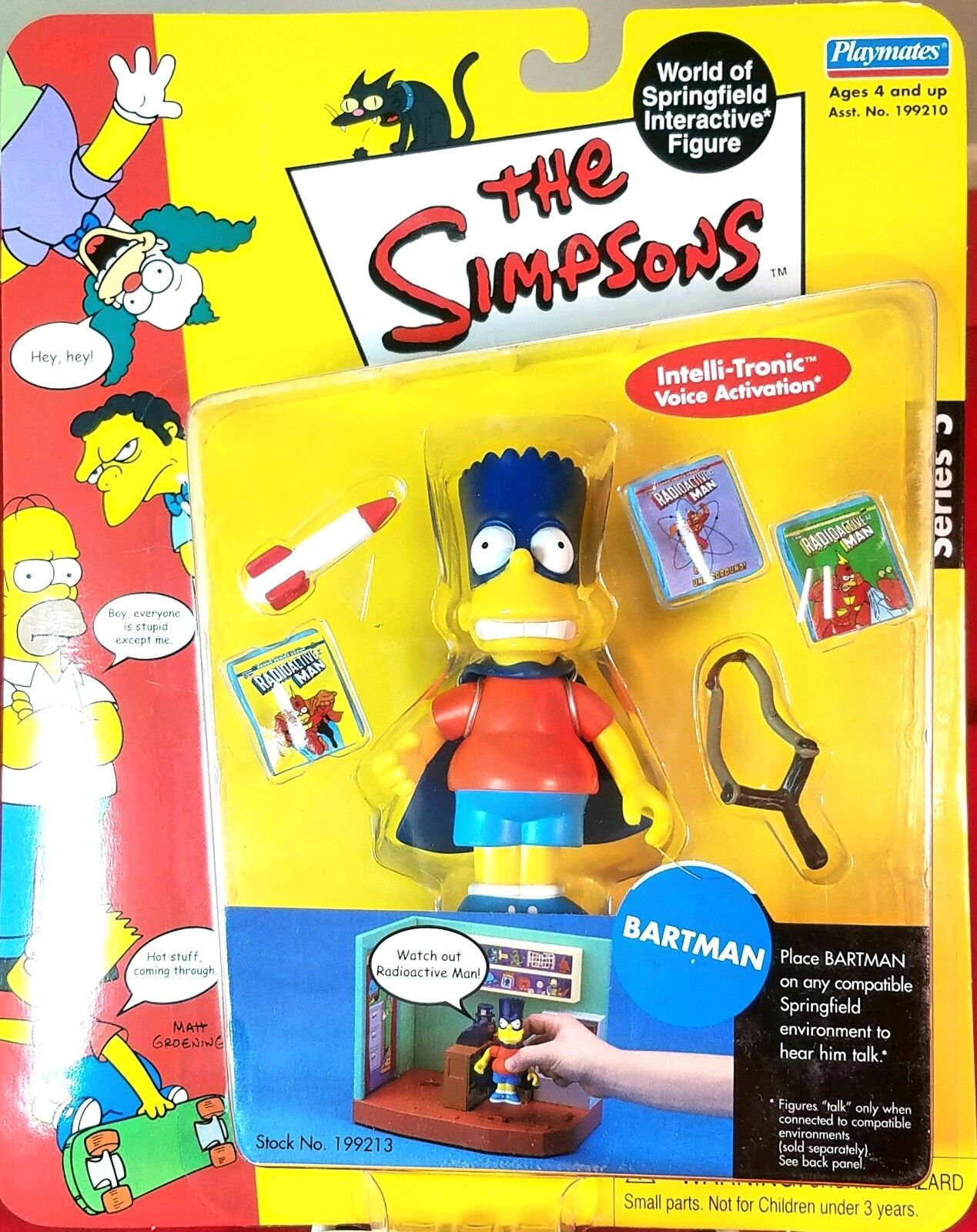 SERIES 5 BART AS BARTMAN THE SIMPSONS WOS ACTION ACTION ACTION FIGURE PLAYMATES MIP 62f87e