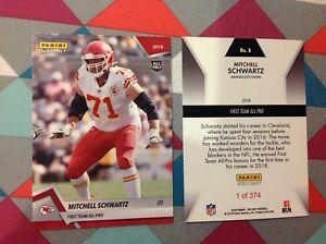 super popular 04572 db759 Details about Mitchell Schwartz #8 Chiefs 2018 / 2019 Panini Instant Red  First Team All-Pro