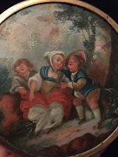 Miniature XVIII epoque louis XV Peinture 18 eme