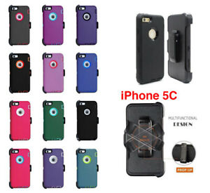 For-iPhone-5C-Case-Defender-Cover-Hard-Screen-Protector-Fits-Otterbox-Belt-Clip