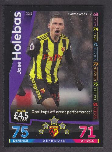 Watford Match Attax On Demand 2018//19-083 Jose Holebas