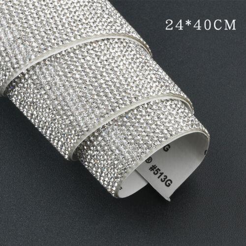 24x40cm Self Adhesive Rhinestone Crystal Bling Self Adhesive Sticker Sheet Craft