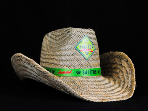 """estivo /""""SALITOS tequila/"""" SALITOS BIRRA in paglia cappellino cappello Panama"""