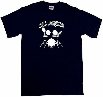 Old School Electroninc Drum Set Logo Men's Shirt Pick Size Color S 6XL L/S S/S