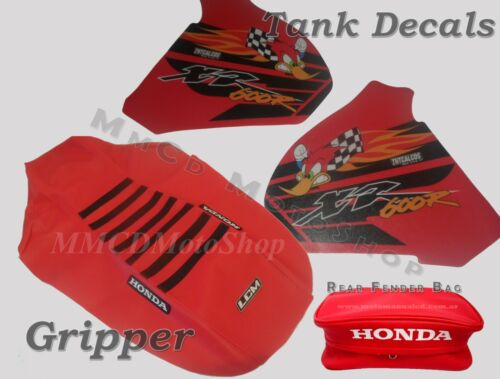 XR600 KIT SEAT COVER GRIPPER  /& TANK DECALS /& REAR FENDER BAGS HONDA XR 600 R