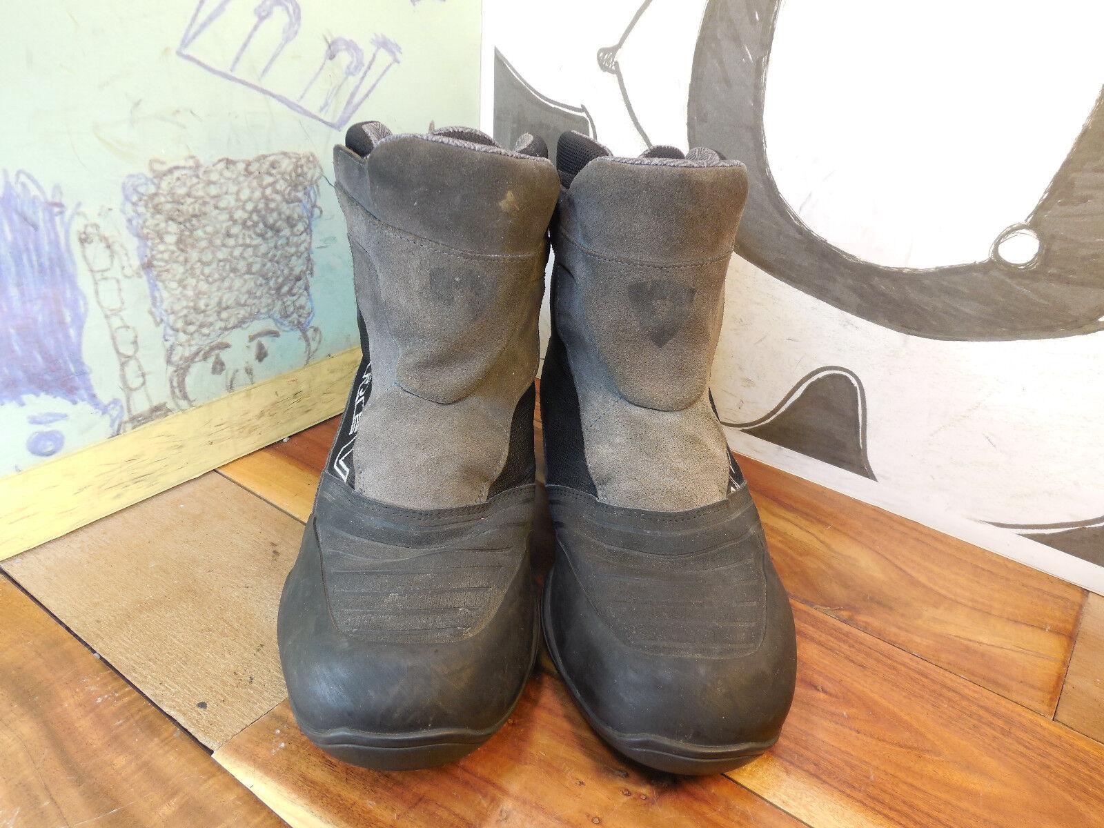 Rev' It Black Suede & Textile Motorcycle Boots Men's 10.5
