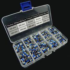 10value 200pcs Trimpot Variable Resistor 6mm Assortment Box Kit