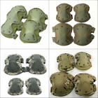 8 Colors Outdoor Sports Airsoft Tactical Knee & Elbow Protective Pads Set Gear
