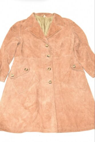 Cappotto bottoni marrone donna in da taglia pelle aderente Uk16 semi in con pelle chiaro rwqr04