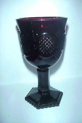 "SET of 6 Vintage AVON 1876 Cape Cod Ruby Red Glass Water Wine glass 4 1//2/"" Tall"