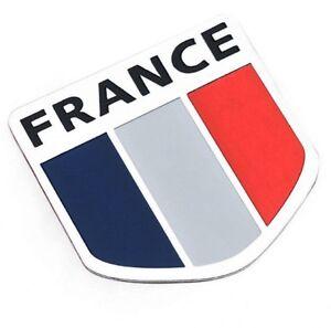 Aufkleber-Auf-Kleber-Emblem-Wappen-Flagge-Frankreich-France-Metall-selbstklebend