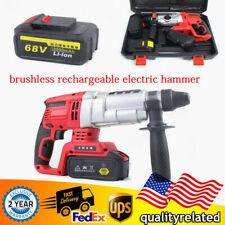 Brushless Rechargeable Demolition Jack Hammer Drill Concrete Breaker2 Battery