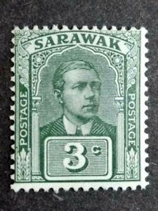 Malaya-Sarawak-1928-Sir-Charles-Vyner-Brooke-Wmk-Rosette-3c-Green-1v-MLH