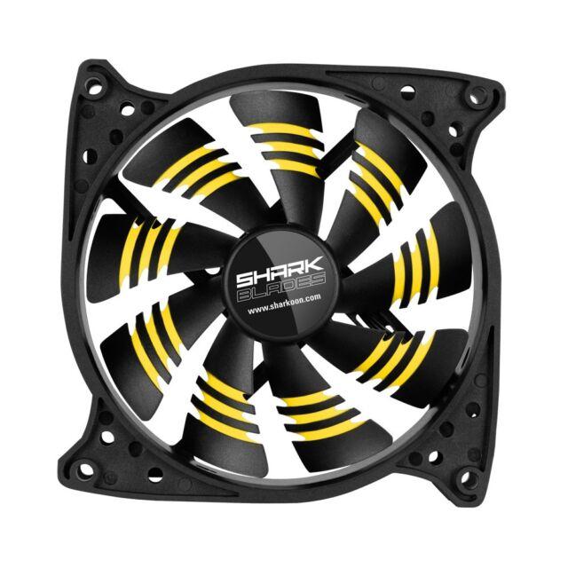 SHARKOON * SHARK Blades * gelb * 120x120x25mm  Gehäuselüfter kraftvoll und leise
