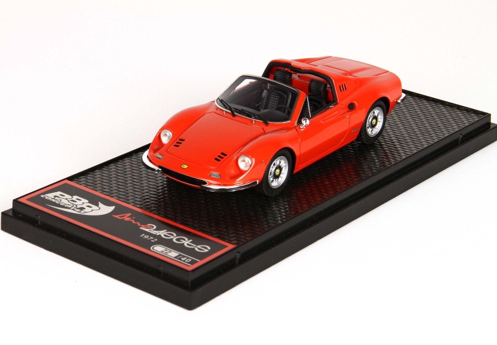 Ferrari Dino 246 Gts Spider 1969 rouge rouge rouge Dino BBR 1 43 BBRC54E c91327