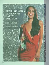 2014 Print Ad Hornitos Tequila ~ Eggnog, Move Over. Sexy Girl Red Dress Holidays