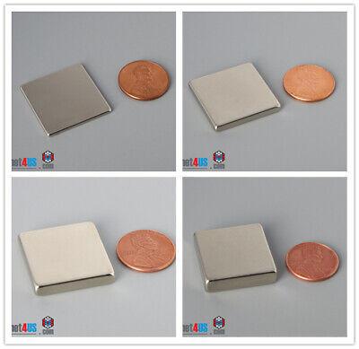 "Multiple Size 25mm 1/"" Length Block Rare Earth Neodymium Square Magnets"