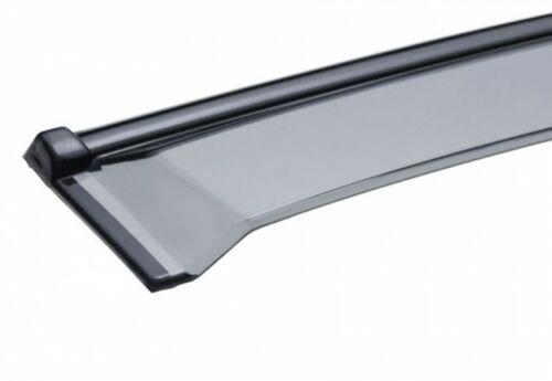 WellVisors For 10-17 Volvo XC60 Clip-On BLACK TRIM Side Window Visors Rain Guard