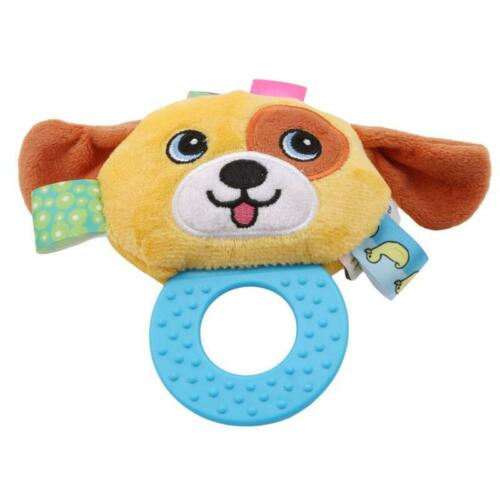 Cute Infant Animal Rattle Hand Bells Stuffed Plush Toy Kids Educational Toy T