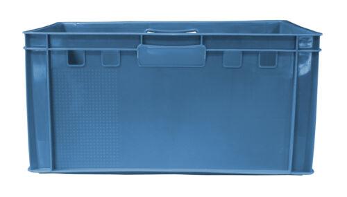 2 St E3 Eurofleischerkiste  Transportkiste  Box 60x40x30 cm  blau NEU Gastlando