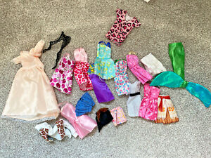 Barbie Doll Clothes Dresses Mermaid Tail Mixed Lot Heart Dress Skirt Tights