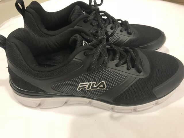 e48749eb4 Fila Mens Memory Refractive Memory Foam Insole Running Athletic Shoes Black  11